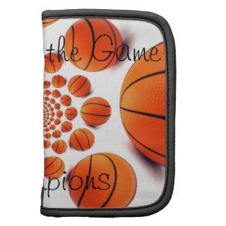 Amo el folio del carrito del juego de baloncesto organizador