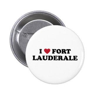 Amo el Fort Lauderdale la Florida Pin Redondo De 2 Pulgadas