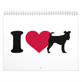 Amo el fox terrier calendarios
