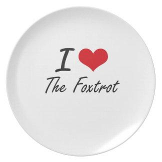 Amo el Foxtrot Plato Para Fiesta