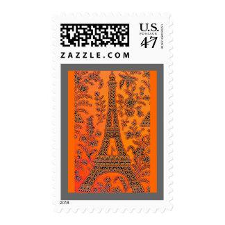 Amo el franqueo de París Sello Postal