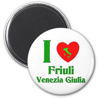 Amo el Friuli-Venezia Giulia Italia Imán Redondo 5 Cm