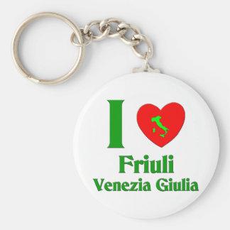Amo el Friuli-Venezia Giulia Italia Llavero Redondo Tipo Pin