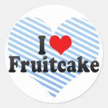 Amo el Fruitcake Etiqueta