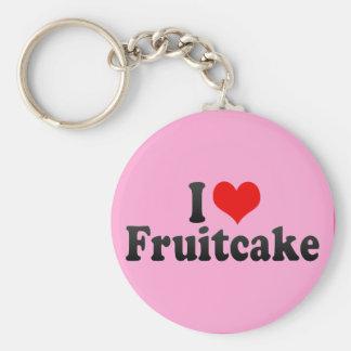 Amo el Fruitcake Llavero Personalizado