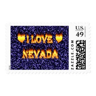 Amo el fuego de Nevada y el diseño de las llamas Sellos