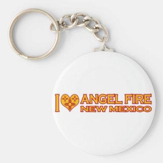 Amo el fuego del ángel nanómetro llaveros