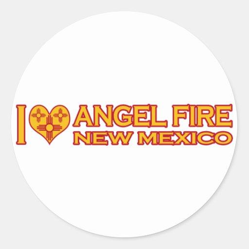 Amo el fuego del ángel, nanómetro etiqueta redonda