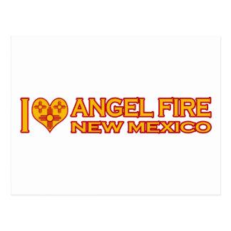 Amo el fuego del ángel, nanómetro tarjeta postal