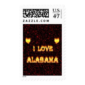 Amo el fuego y las llamas de Alabama Estampilla
