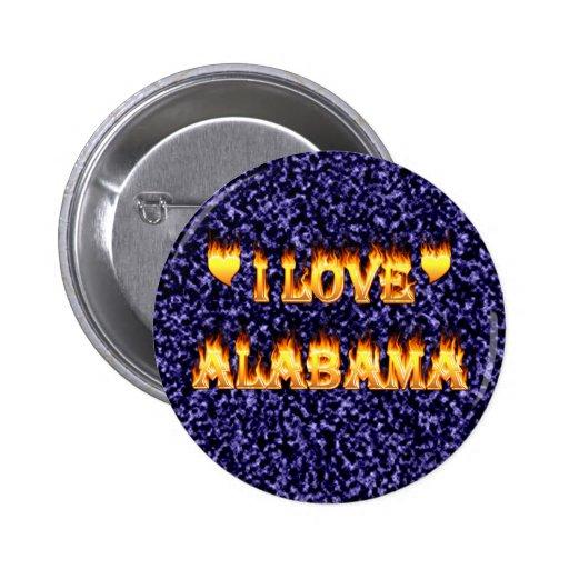 Amo el fuego y las llamas de Alabama Pin