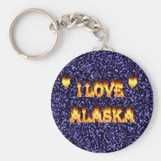 Amo el fuego y las llamas de Alaska Llavero Redondo Tipo Pin