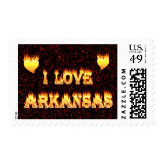 Amo el fuego y las llamas de Arkansas Sellos
