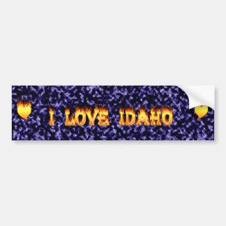Amo el fuego y las llamas de Idaho Pegatina Para Auto