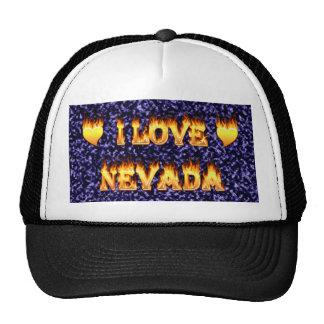 Amo el fuego y las llamas de Nevada Gorro