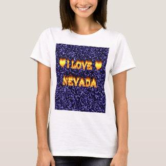Amo el fuego y las llamas de Nevada Playera