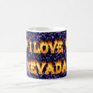 Amo el fuego y las llamas de Nevada Taza