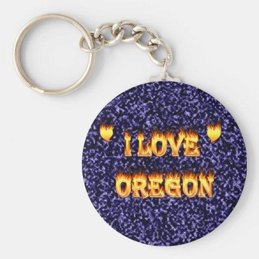 Amo el fuego y las llamas de Oregon Llaveros