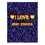 Amo el fuego y las llamas de Virginia Occidental Tarjeta Postal