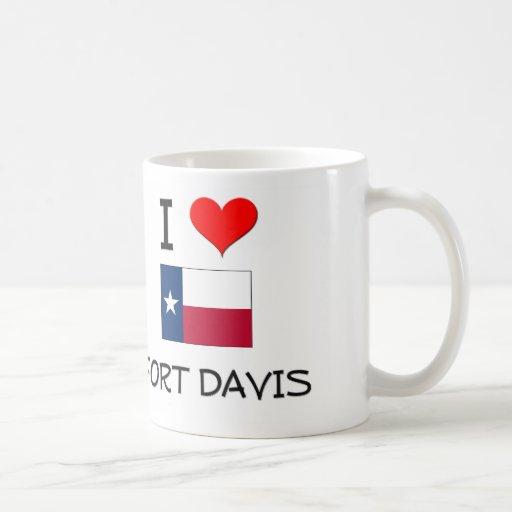 Amo el fuerte Davis Tejas Tazas