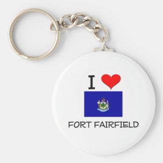 Amo el fuerte Fairfield Maine Llavero Redondo Tipo Pin
