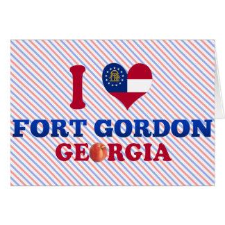 Amo el fuerte Gordon, Georgia Felicitaciones