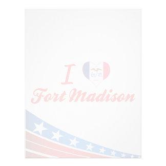 Amo el fuerte Madison, Iowa Plantillas De Membrete