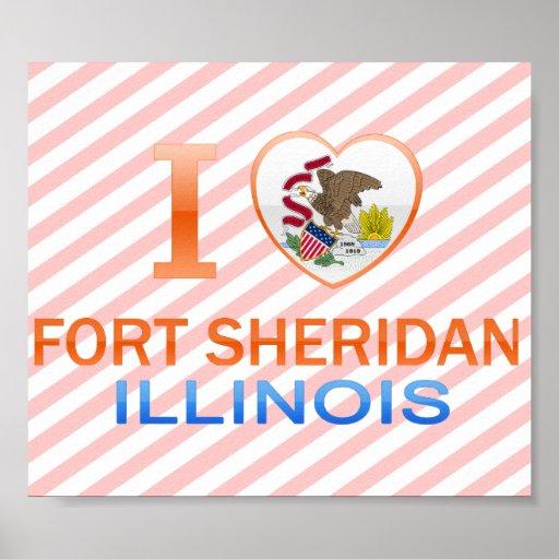 Amo el fuerte Sheridan, IL Impresiones