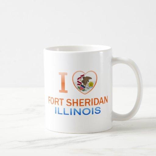 Amo el fuerte Sheridan, IL Tazas De Café