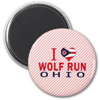 Amo el funcionamiento del lobo Ohio Imanes Para Frigoríficos