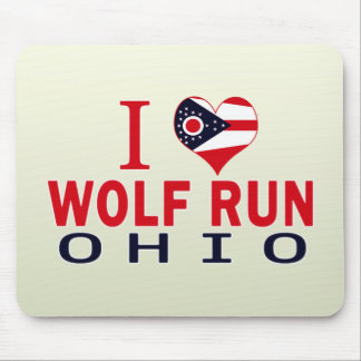Amo el funcionamiento del lobo, Ohio Alfombrillas De Raton