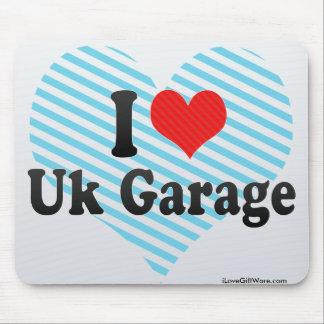 Amo el garaje británico tapetes de raton