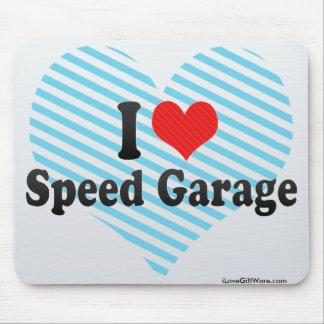 Amo el garaje de la velocidad alfombrilla de ratón