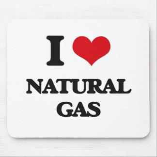 Amo el gas natural tapetes de ratón