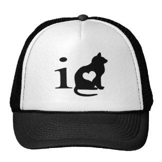 Amo el gatito gorras de camionero