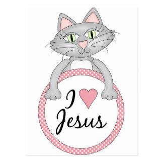 Amo el gato de Jesús Postales