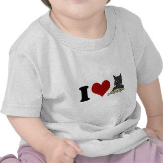Amo el gato de los espaguetis camisetas