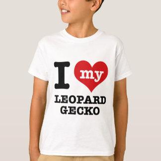 Amo el GECKO del LEOPARDO Playera