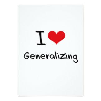 Amo el generalizar invitación 12,7 x 17,8 cm