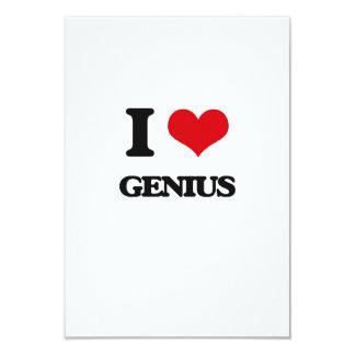 Amo el genio invitación 8,9 x 12,7 cm