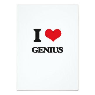 Amo el genio invitación 12,7 x 17,8 cm