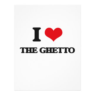 Amo el ghetto folleto 21,6 x 28 cm