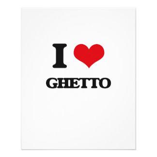 Amo el ghetto tarjetas publicitarias