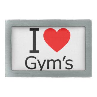 Amo el gimnasio hebilla cinturón rectangular