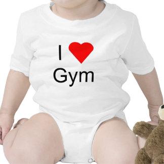 Amo el gimnasio trajes de bebé