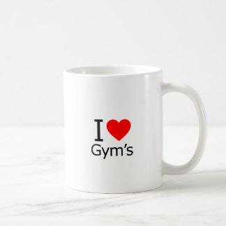 Amo el gimnasio taza de café