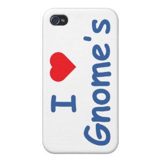 Amo el gnomo iPhone 4 coberturas