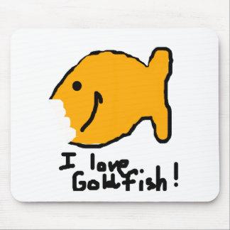 """¡""""Amo el Goldfish! """" Alfombrillas De Raton"""