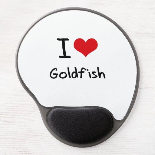 Amo el Goldfish Alfombrillas De Raton Con Gel