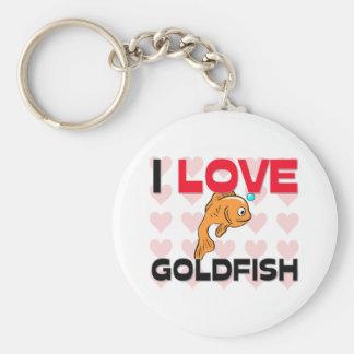 Amo el Goldfish Llaveros Personalizados